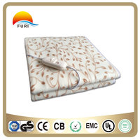 polar fleece electric blanket heating blanket with CE GS RoHS