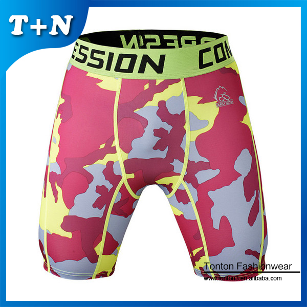 Spandex Compression Athlete Running Shorts Wholesale Custom