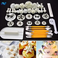 New 41pcs Plunger Cutter Cooking Appliance Cookie Decorating Fondant Cake Baking Mold Tool