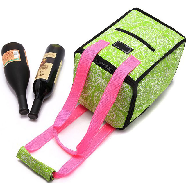2017 SUPER SEPTE 6 Bottle Travel Insulated Wine Carrying Cooler Tote Bag