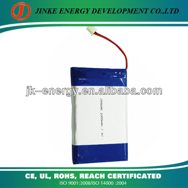 Li-ion battery 7.4v recharge 505080 2000mah lipo battery 7.4v 25c portable dvd player battery