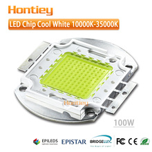 Epistar cool white 100W LED 10000-15000K high power chip 45mil integrated package used in advertising board background lighting