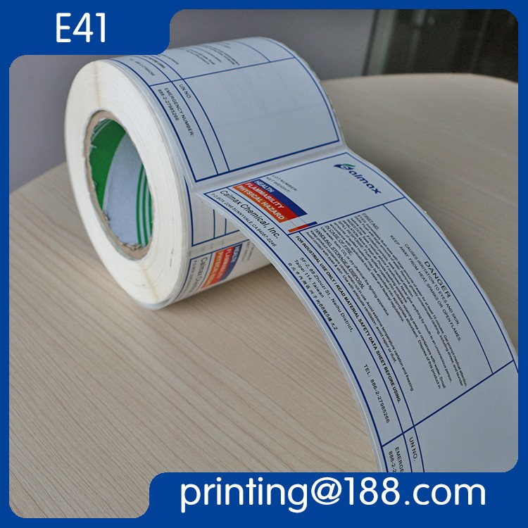 Custom Printed Label Roll labels for plastic bottles
