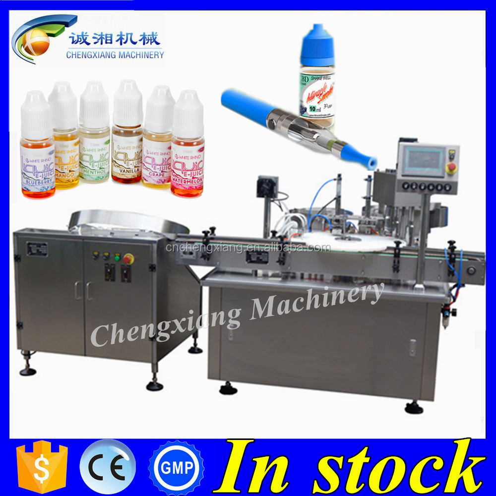 Shanghai Chengxiang smoke oil bottle filling machine,ejuice flavor bottle filler production line