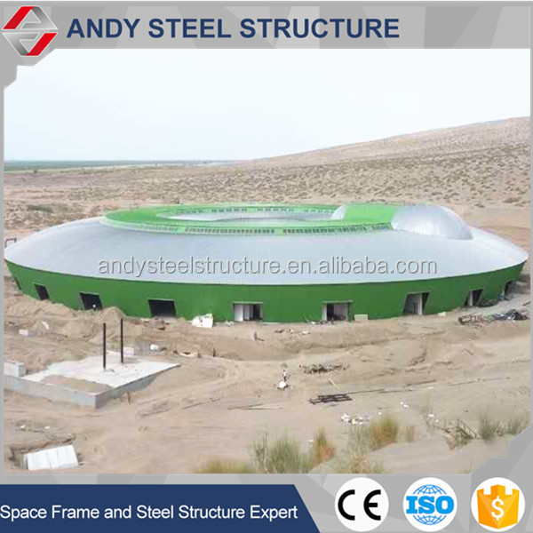 Large Span Space Frame Prefab Dome Type Roof