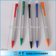 Promotional advertising silver push ball pen