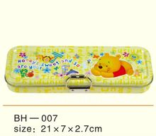 (Factory Direct Sale) Embossed and Fancy Shaped Kids Tin Pencil Case