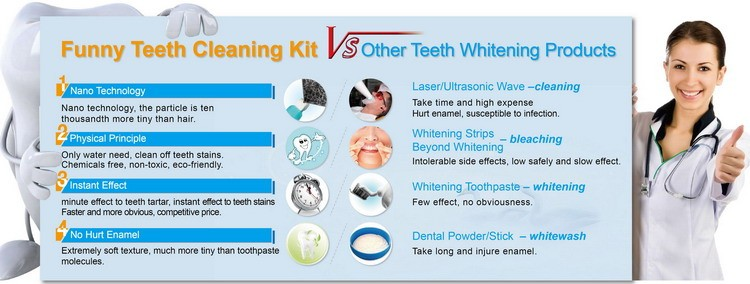 Effective Professional Cleaning Teeth Kit Products Non peroxide Dental Whitening Strips