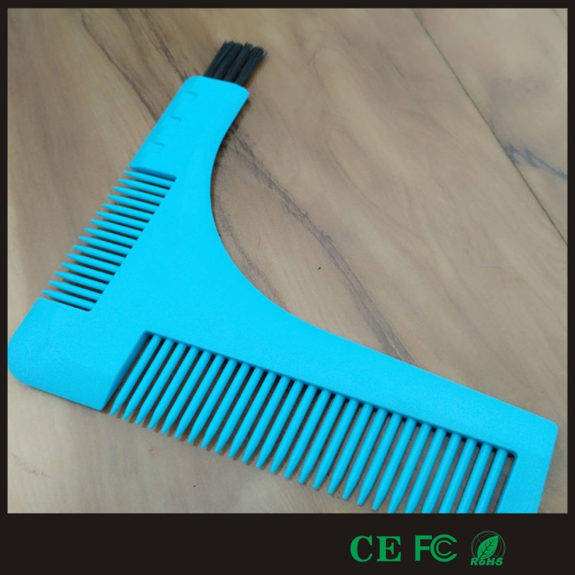2017 new produce patented fast shipping mens beard comb with brush