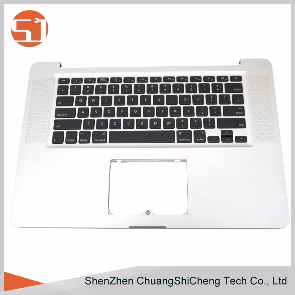 Original Tested Laptop Top Case Cover Palmrest Topcase with Keyboard for Macbook Pro A1286 2011 2012