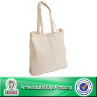 Customized Cheap Standard Size Canvas Tote Bag Cotton Bag