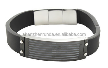 wholesale new high quality jewelry mens genuine leather bracelet stainless steel bangles made in China Jewelry