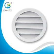 China Factory Air Grille Vent Round Weather Louvres with Bird Screen