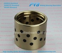 SGB brass bearing,solid lubricating brass bush, HTB3 manganese cast bronze bushing with graphite plugged