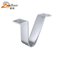 2 inch 3 inch 4 inch 5 inch 7 inch furniture legs customized silver V shaped unique design modern metal sofa hardware feet