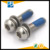 Stainless steel 304 pan head hexagonal combination screw half circle blue rubber coating with anti-loose