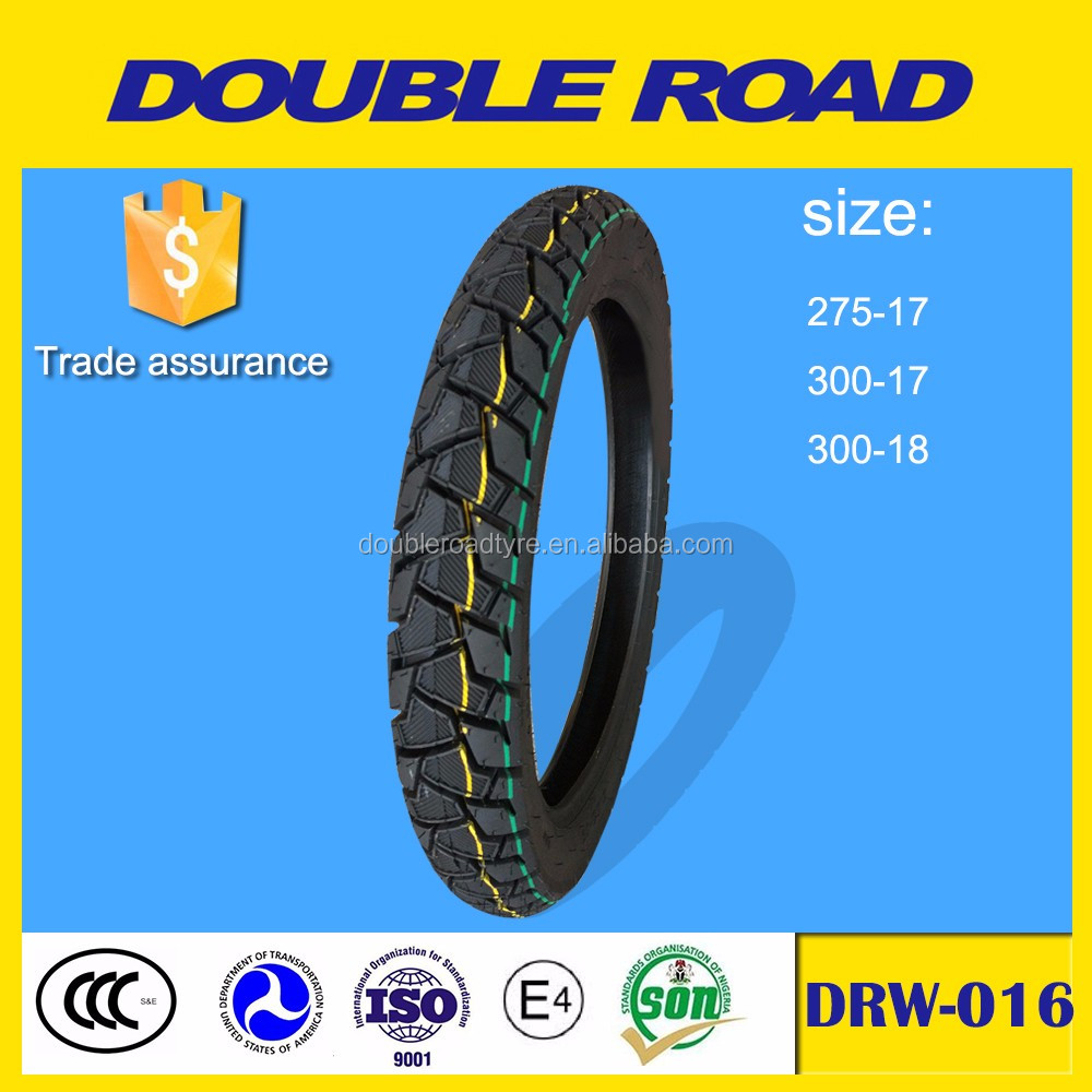 double road yellow solid rubber motorcycle tires 3.00-18 wholesale