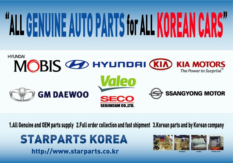 Genuine parts for Hyundai and Kia car models