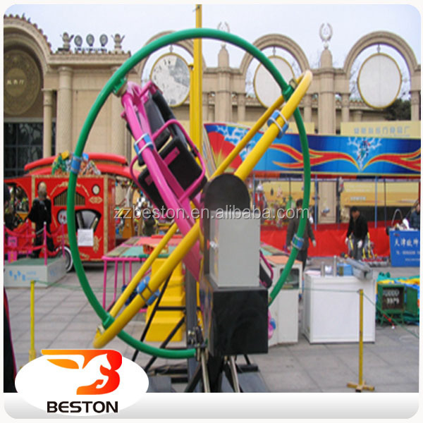Amusement park orbitron ride electric human gyroscope rides for sale