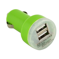 wholesale emergency portable 12V car charger usb 2 port for tablet pc/phone