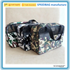 new simple style camouflage leather duffel bag luggage and travel bag with webbing handle