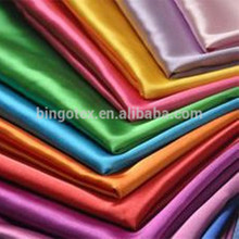 China supplier polyester satin fabric in stock