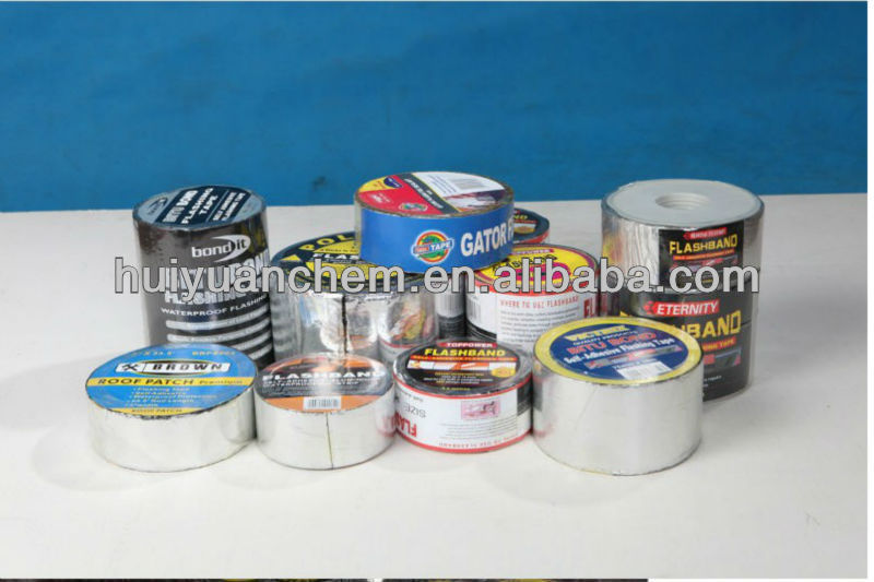 self-adhesive flashing tape/band bitumen tape/band waterproof roll