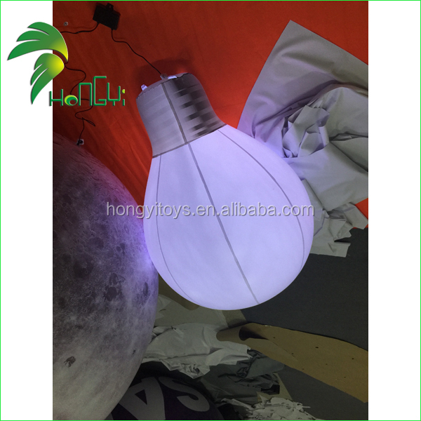 inflatable pvc lamp bulb , inflatable led globe bulb balloon