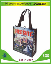 wholesale promotional logo printed recyclable foldable pp non woven bag