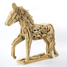 Home Standing Horse Decoration Driftwood