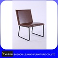 modern metal and leather italian dining chair