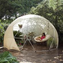 New design white pvc geodesic dome tent with high quality