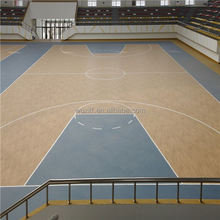 customized professional non-slip wearable pvc basketball flooring for indoor