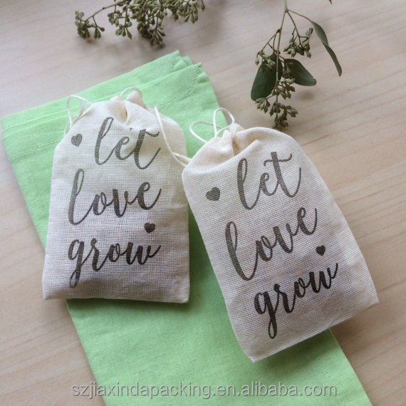 Customized Thin Muslin Favor Bag