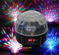 Disco magic light DMX512 led crystal ball/stage light 12V 6W RGB stage light