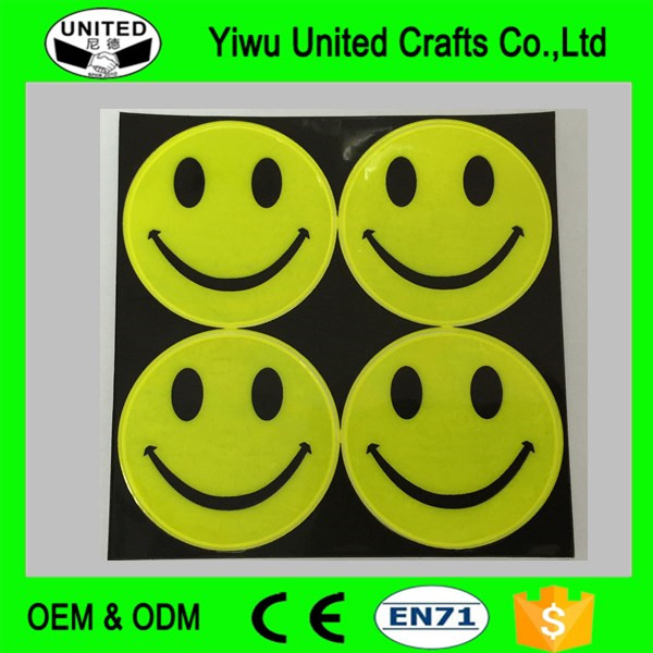 2016 high quality reflective pvc emoji stickers design for motorcycle