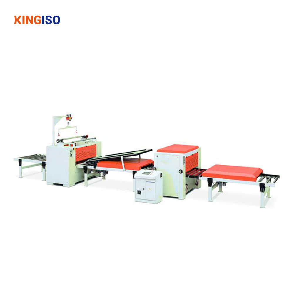 PUR Glue Automatic Paper High Gloss PVC Sticking Production Line for Fire-proof Plate