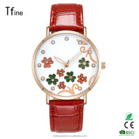 Popular Fashion Women Lady Gril Stainless Steel Analog Wrist Watches