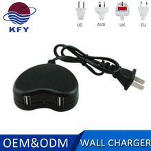 wholesale high speed 5v 2.1a dual micro usb wall travel home universal mobile phone charger