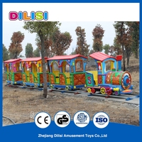 Cute Colorful Kids Cartoon Small Amusement Park Trains Electric toys For Sale