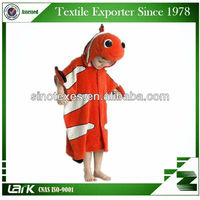 High quality animal hooded towel pattern, kids animal bath towels
