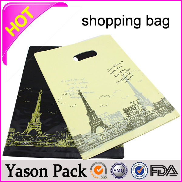 Yason ldpe shopping handle bag rolling shopping bag clear rope handle shopping tote