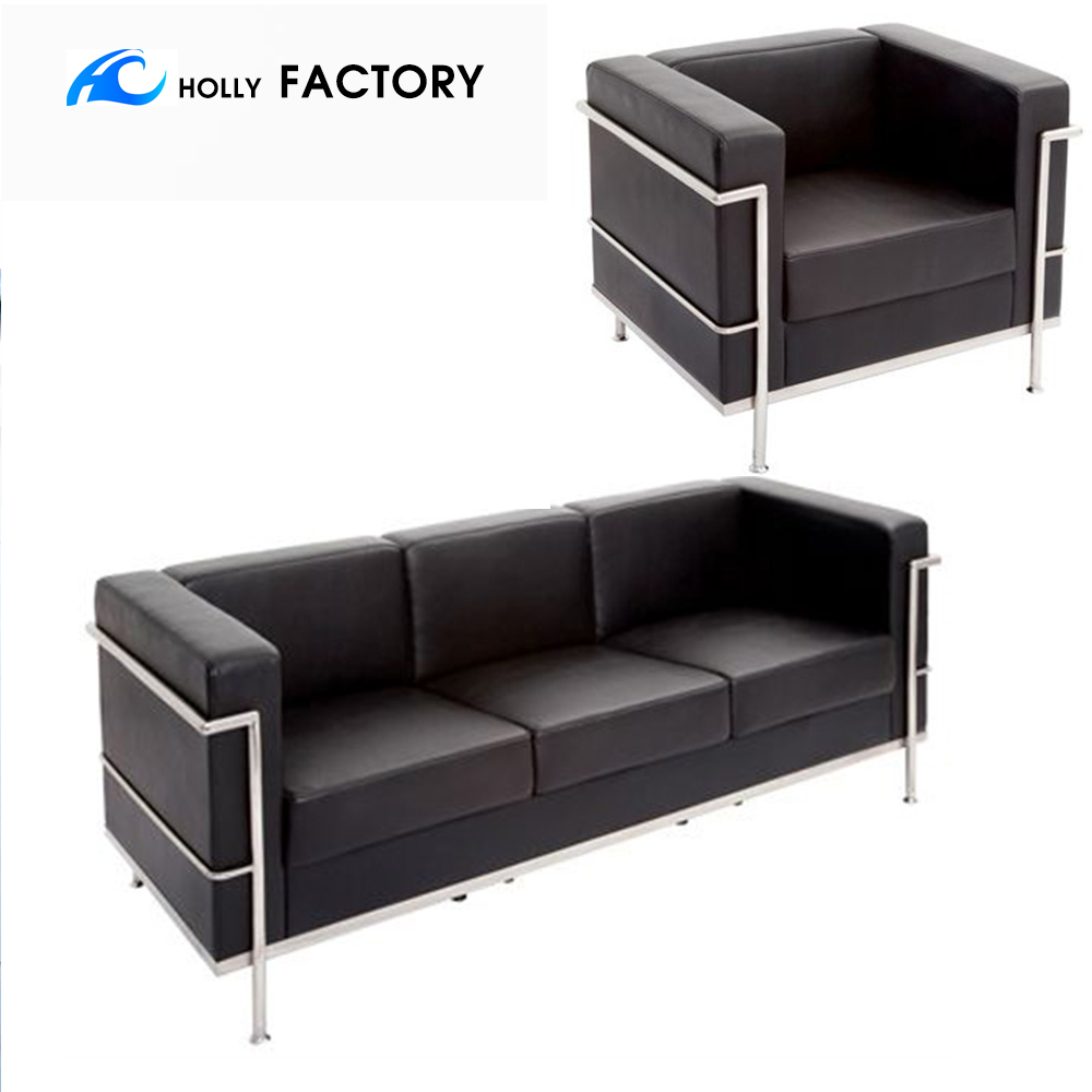 HL-8008A hollyfurntiure stainless Cubed Leather Faced <strong>SOFA</strong>