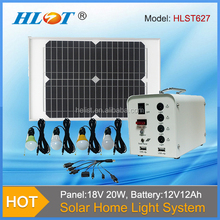 High Quality 20W mini solar home system, New Design portable home solar systems