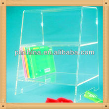 An-c638 European Design Factory Hot Sell Clear Furniture Book Rack Design/Library Book Rack/Plastic Book Racks