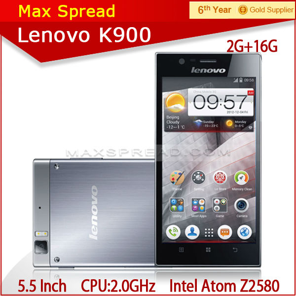 "Ultra-Long Standby 2.0GHZ 5.5"" 13MP QUAL CORE Lenovo K900 mobile phone"