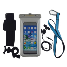 2017 mini waterproof pvc bag with sport armband for cell phone