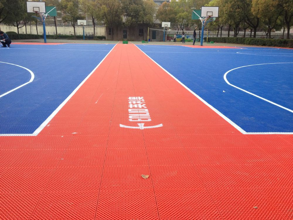 Enlio outdoor basketball court tiles