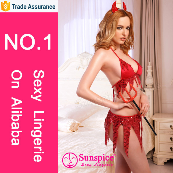 sunspice fashionable design mature girls seductive red devil costume wear devil lady costume