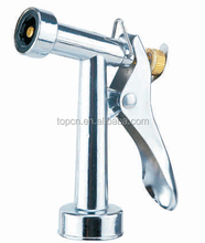 "4''-1/2""AL hose nozzle chrome plated water spray gun for garden"